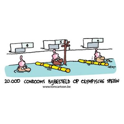 Condooms uitgedeeld tijdens olympische spelen