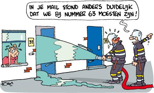 Tomcartoon Stad Antwerpen Brandweer Tomcartoon