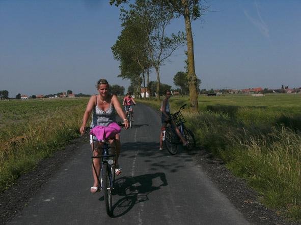 fietstocht in de Polders