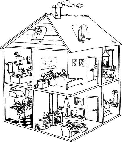 best templates kleurplaat huizen